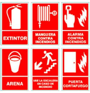 Señales de incendios